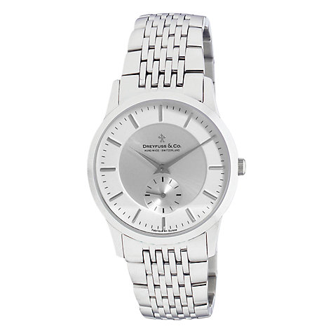 Buy Dreyfuss & Co DGB00001/02 Women's Classic Dual Dial Bracelet Strap Watch, Silver Online at johnlewis.com