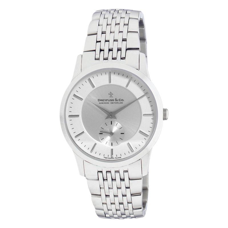 Dreyfuss & Co Dreyfuss & Co DGB00001/02 Women's Classic Dual Dial Bracelet Strap Watch, Silver