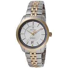 Buy Dreyfuss & Co DGB00066/06 Men's 1953 Two-Tone Date Bracelet Watch, Silver/Gold Online at johnlewis.com