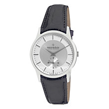 Buy Dreyfuss & Co DGS00001/02 Men's 1946 Leather Strap Watch, Black/Silver Online at johnlewis.com
