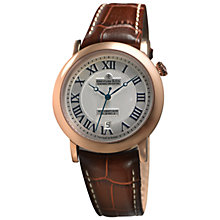Buy Dreyfuss & Co DGS00031/21 Men's 1925 Date Leather Strap Watch, Rose Gold/Brown Online at johnlewis.com