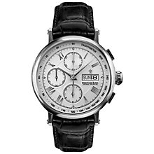 Buy Dreyfuss & Co DGS00050/21 Men's Valjoux Chronograph Leather Strap Watch, Black Online at johnlewis.com