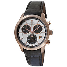 Buy Dreyfuss & Co DGS00063/06 Men's 1953 Chronograph Leather Strap Watch, Black Online at johnlewis.com