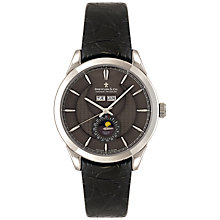 Buy Dreyfuss & Co DGS00068/20 Men's 1925 Black Moonphase Leather Strap Watch, Black Online at johnlewis.com