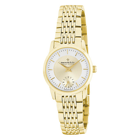 Buy Dreyfuss & Co DLB00002/03 Women's 1946 Slim Line Bracelet Watch, Gold Online at johnlewis.com