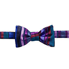 Buy Duchamp Stripe Bow Tie, Purple Online at johnlewis.com