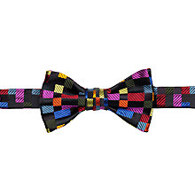 Buy Duchamp Colour Block Bow Tie, Black Online at johnlewis.com
