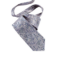 Buy Duchamp Paisley Print Blaze Silk Tie, Grey Online at johnlewis.com