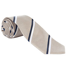 Buy John Lewis Champagne Stripe Tie, Gold Online at johnlewis.com