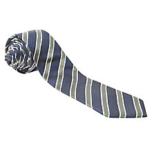 Buy John Lewis Textured Stripe Tie, Navy/Green Online at johnlewis.com