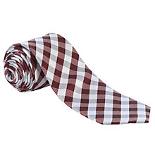 Buy John Lewis Gingham Check Tie Online at johnlewis.com