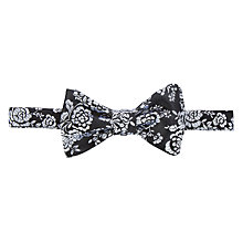 Buy Duchamp Paisley Patterned Bow Tie, Black/White Online at johnlewis.com