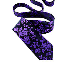 Buy Duchamp Berymount Floral Silk Tie, Navy/Purple Online at johnlewis.com