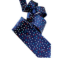 Buy Duchamp Moonlight Dot Silk Tie, Navy Online at johnlewis.com