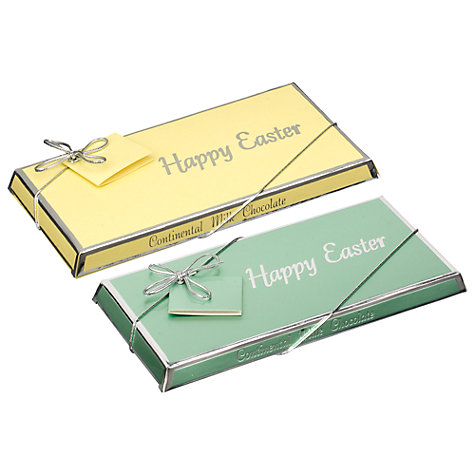 Buy Ambassadors of London Happy Easter Swiss Milk Chocolate Bar, 100g, Assorted Online at johnlewis.com