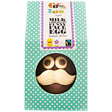 Buy Cocoa Loco Mr Moustache Milk Chocolate Easter Egg, 225g Online at johnlewis.com