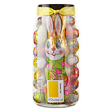 Buy Farhi Foiled Egg and Bunny Milk Chocolate Jar, 450g Online at johnlewis.com