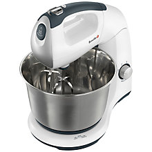 Buy Breville VFP040 Stand and Hand Mixer, White/Stainless Steel Online at johnlewis.com