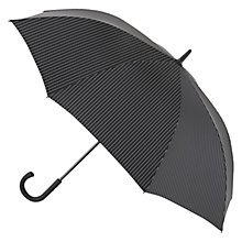 Buy Fulton Knightsbridge 2 City Stripe Umbrella, Black Online at johnlewis.com