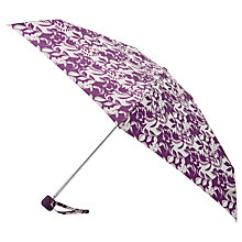 Buy John Lewis Floral Print Umbrella, Purple Online at johnlewis.com