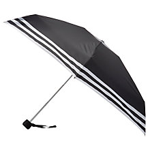 Buy John Lewis Stripe Mini Umbrella, Black Online at johnlewis.com