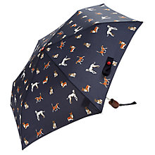 Buy Joules Dog Print Umbrella, Navy Online at johnlewis.com