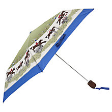 Buy Joules Horse Print Umbrella, Blue Green Online at johnlewis.com