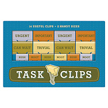 Buy Knock Knock Task Clips, Set of 14 Online at johnlewis.com