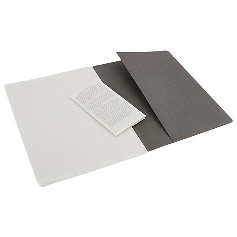 Buy Moleskine Cahier Journals, Pebble Grey, Pack of 3 Online at johnlewis.com