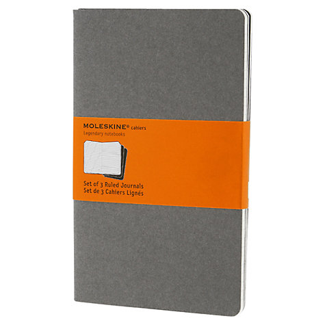 Buy Moleskin Cahier Journals, Pebble Grey, Pack of 3 Online at johnlewis.com