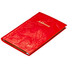 Buy Leathersmith of London Porcelain Leather Address Book, Ruby Online at johnlewis.com