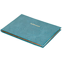 Buy Leathersmith of London Porcelain Address Book, Teal Online at johnlewis.com