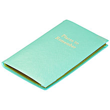 Buy Leathersmith of London Rutland Places To Remember Leather Journal, Aqua Online at johnlewis.com