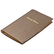 Buy Leathersmith of London Rutland Leather Travel Journal Set, Taupe Online at johnlewis.com