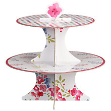 Buy John Lewis 2 Tier Reversible Cake Stand, Pink/White Online at johnlewis.com