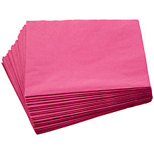 Buy John Lewis Paper Napkins, Fuchsia, Pack of 20 Online at johnlewis.com