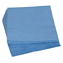 Buy John Lewis Paper Napkins, Blue, Pack of 20 Online at johnlewis.com