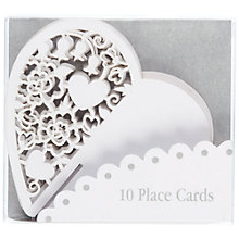 Buy Talking Tables Something in the Air Heart Place Cards, White, Pack of 10 Online at johnlewis.com