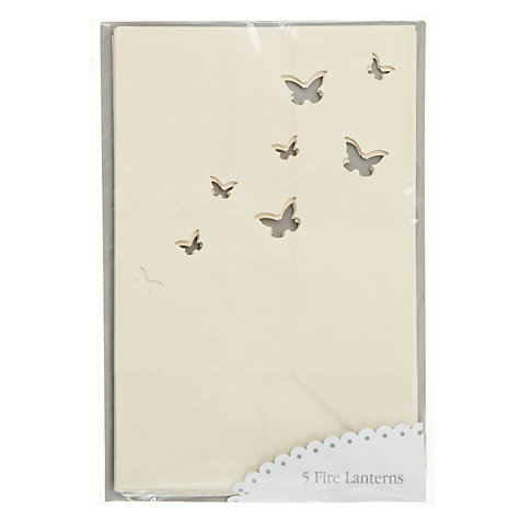 Buy Talking Tables Something in the Air Paper Lantern Bags, White, Pack of 5 Online at johnlewis.com