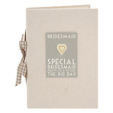 Buy East of India Bridesmaid Photo Album, Natural Online at johnlewis.com