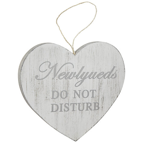 Buy John Lewis Do Not Disturb Door Sign, White Online at johnlewis.com