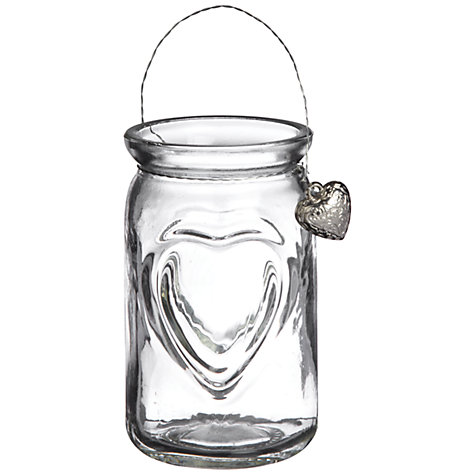 Buy Big Decs Glass Heart Lantern Online at johnlewis.com