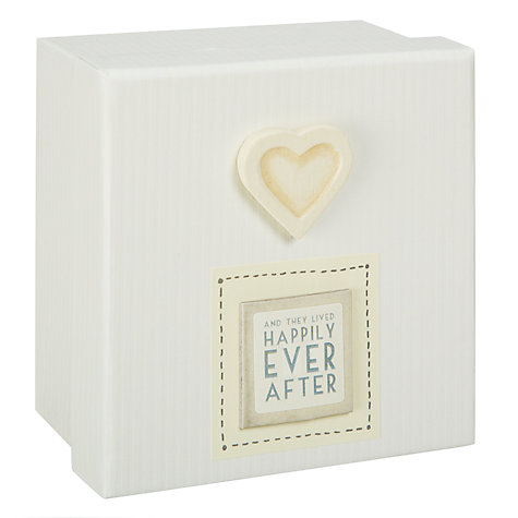 Buy East of India Happily Ever After Wooden Box, Natural Online at johnlewis.com