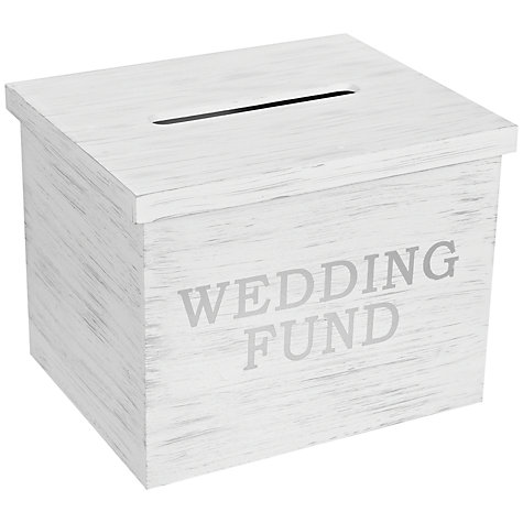 Buy John Lewis Wedding Fund Box, White Online at johnlewis.com
