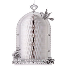 Buy Talking Tables Heart Honeycomb Birdcage Decoration, White Online at johnlewis.com