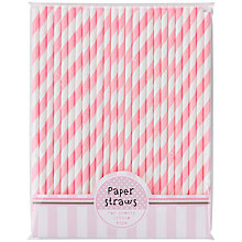 Buy Talking Tables Pink 'n' Mix Paper Straws, Pink, Pack of 25 Online at johnlewis.com