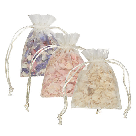 Buy The Real Flower Petal Confetti Co Mini Delphinium Petals in Organza Bag, Assorted Online at johnlewis.com