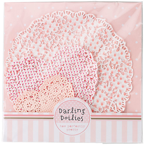 Buy Talking Tables Pink 'n' Mix Assorted Doilies, Pink, Pack of 30 Online at johnlewis.com