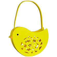 Buy John Lewis Felt Laser Cut Chick Easter Basket, Yellow Online at johnlewis.com