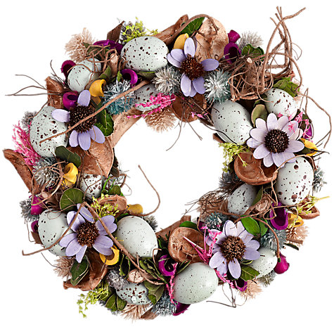 Buy Big Decs Easter Wreath, Lilac Online at johnlewis.com
